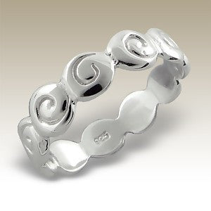 Band of Swirls Sterling Silver Stacking Ring