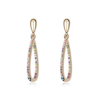 Multicolour Austrian Crystal Earrings - Find Something Special
