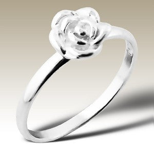 Flower Sterling Silver Stacking Ring