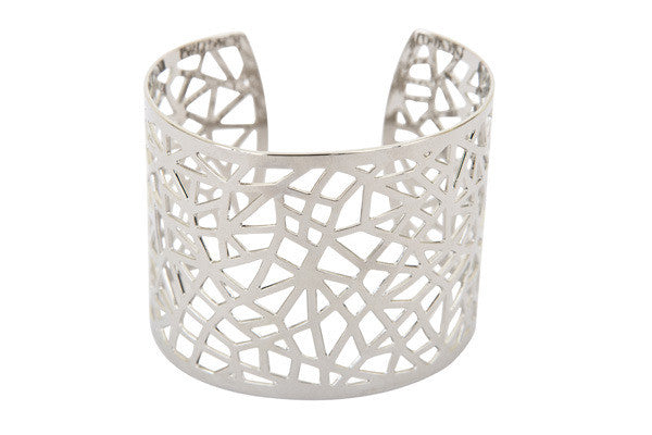 Silver Geometric Cuff - Find Something Special