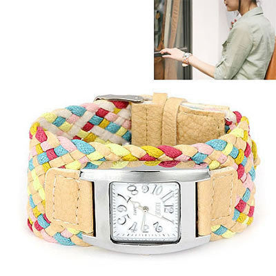 Tan Candy Weave Watch