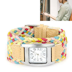 Tan Candy Weave Watch - Find Something Special