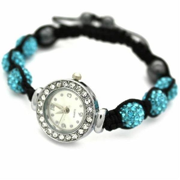 Turquoise Crystal Shamballa Watch