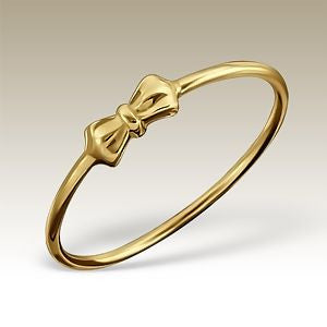 Petite Bow Gold Plated Sterling Silver Ring