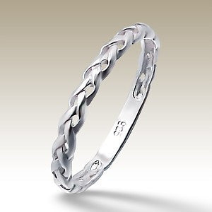 Braided Sterling Silver Stacking Ring