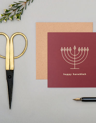 'Happy Hanukkah' Mono Collection | Crimson Red