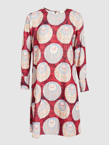 3321 - Red & Cream Printed Tunic