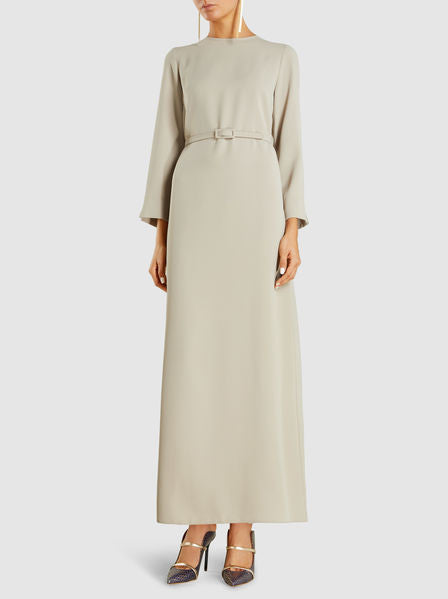 2303 - Beige Belted Maxi Dress