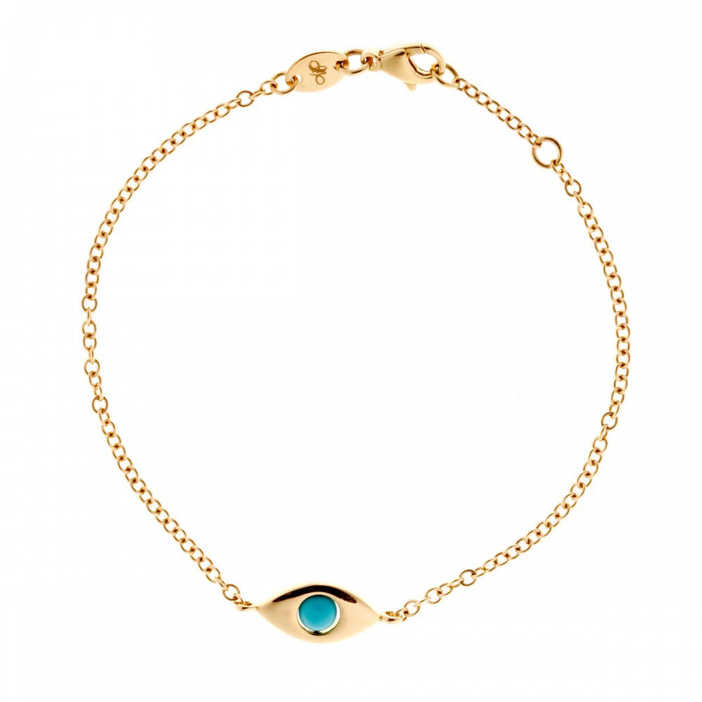 Eye Plane Yellow Gold Bracelet