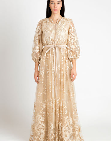 Beige Lace Kaftan (Couture Edition)