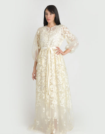 Cream Lace Kaftan (Couture Edition)