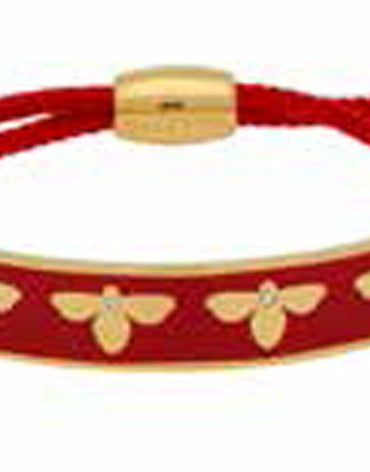 Bee Sparkle Red & Gold Friendship Bangle