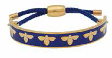 Bee Sparkle Deep Cobalt & Gold Friendship Bangle
