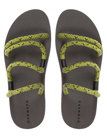 Cotton Cord Laced Sandal With Bicolor Micro Sole - Haute Elan