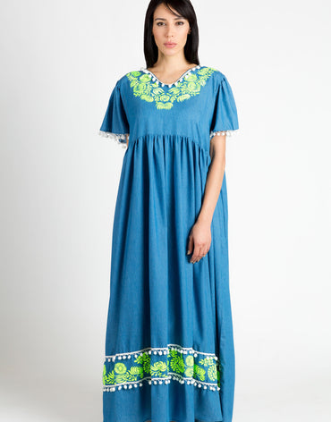Blue Soft Denim Kaftan