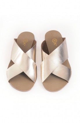 Xtees Champagne Gold Box Flats