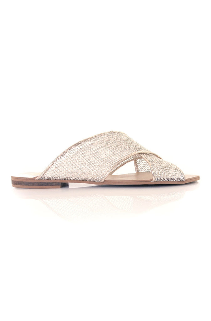 Xtees Champagne Gold Mesh Flats