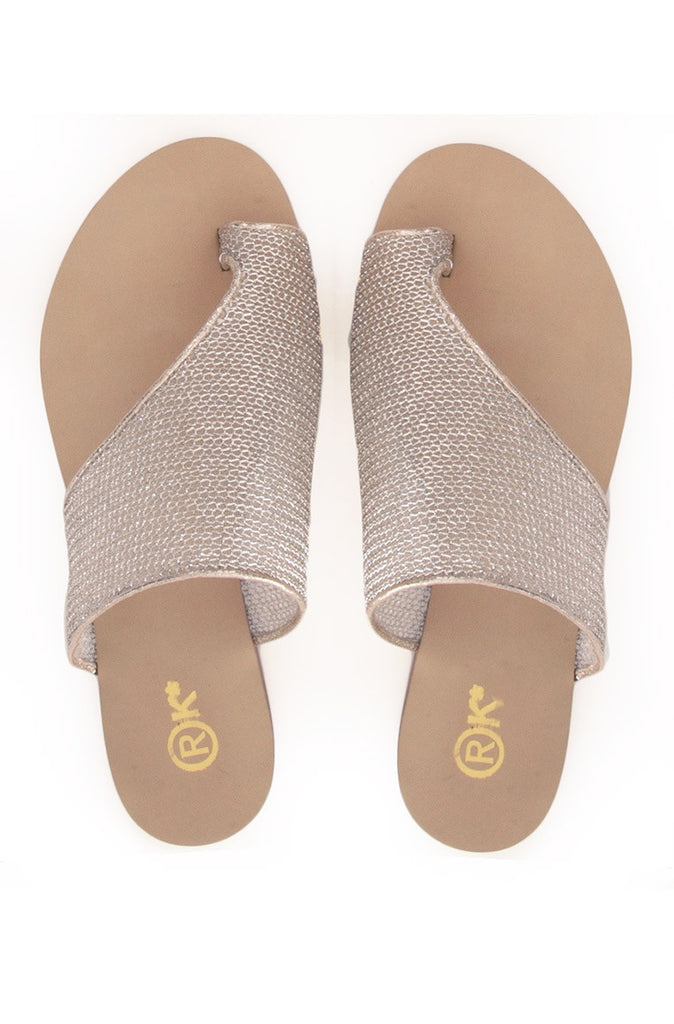 Toepees Champagne Gold Mesh Flats