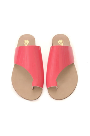 Toepees Salmon Vernis Flats
