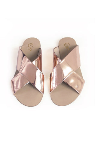Xtees Rose Gold Chrome Flats
