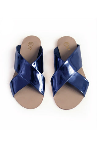 Xtees Navy Blue Chrome Flats