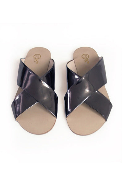 Xtees Black Chrome Flats