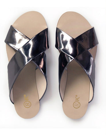 Xtees Black Chrome Flats - Haute Elan