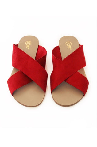 Xtees Red Nubuk Flats