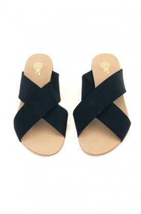 Xtees Black Elastic Flats