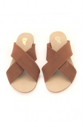 Xtees Tan Elastic Flats