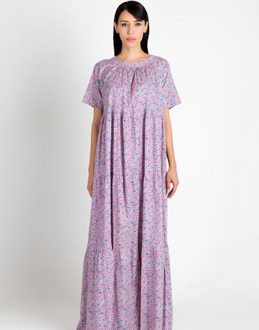 Floral Purple Kaftan