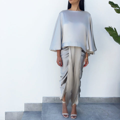 Grey Dhoti Trousers
