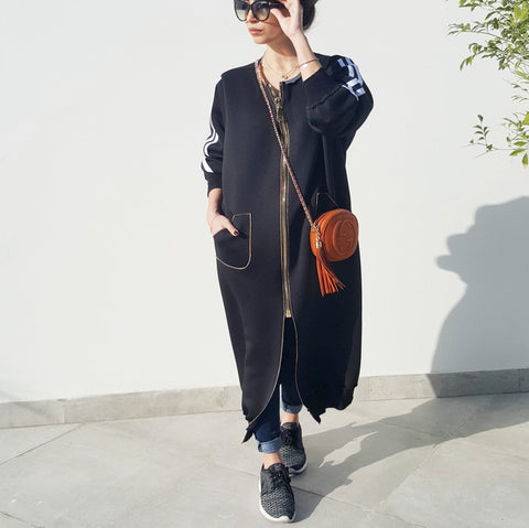 NYC Zipped Sweatshirt Abaya