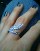 Venus Ring in White Gold - Haute Elan
