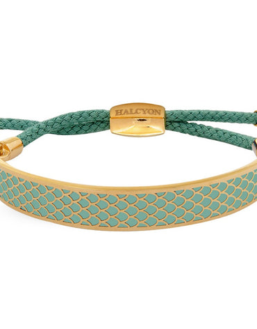 Salamandre Turquoise & Gold Friendship Bangle - Haute Elan