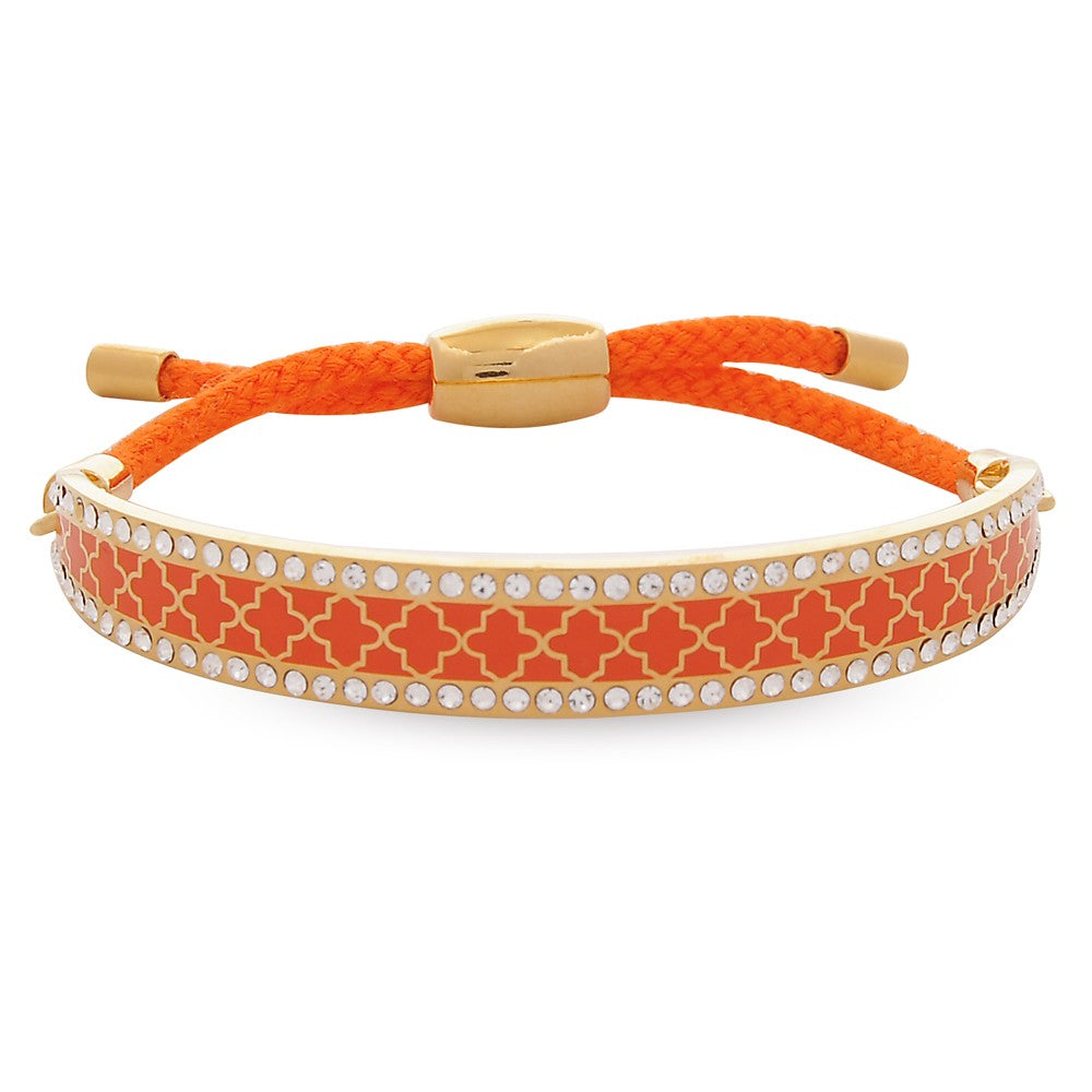 Agma Sparkle Orange & Gold Friendship Bangle - Haute Elan