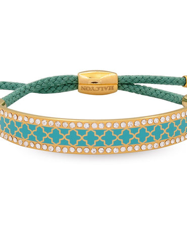 Agma Sparkle Turquoise & Gold Friendship Bangle - Haute Elan