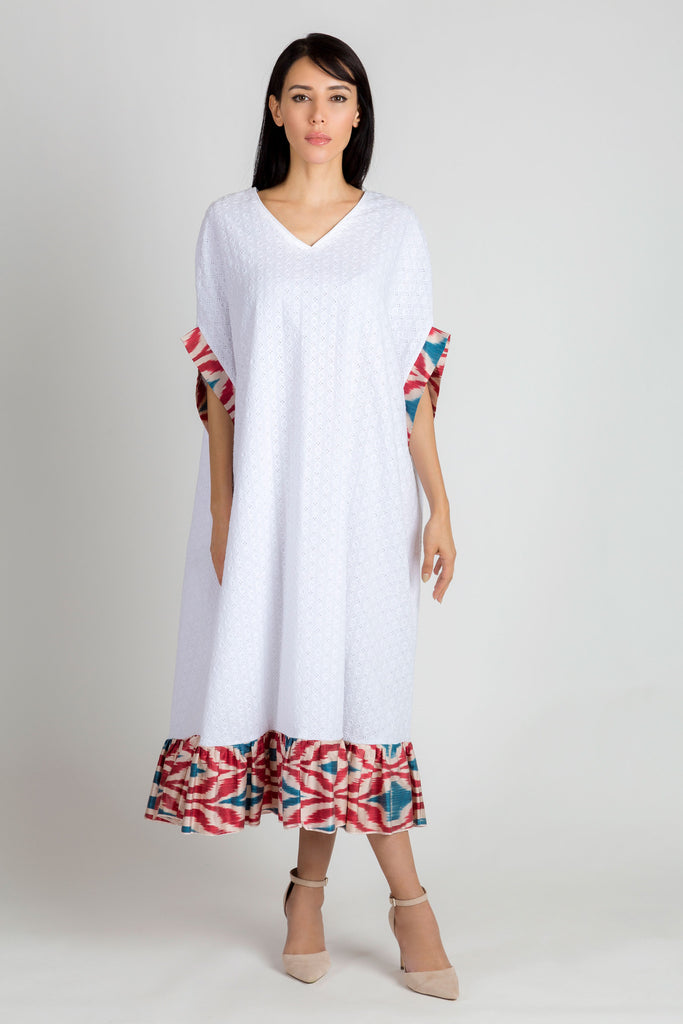 White and Red Kaftan