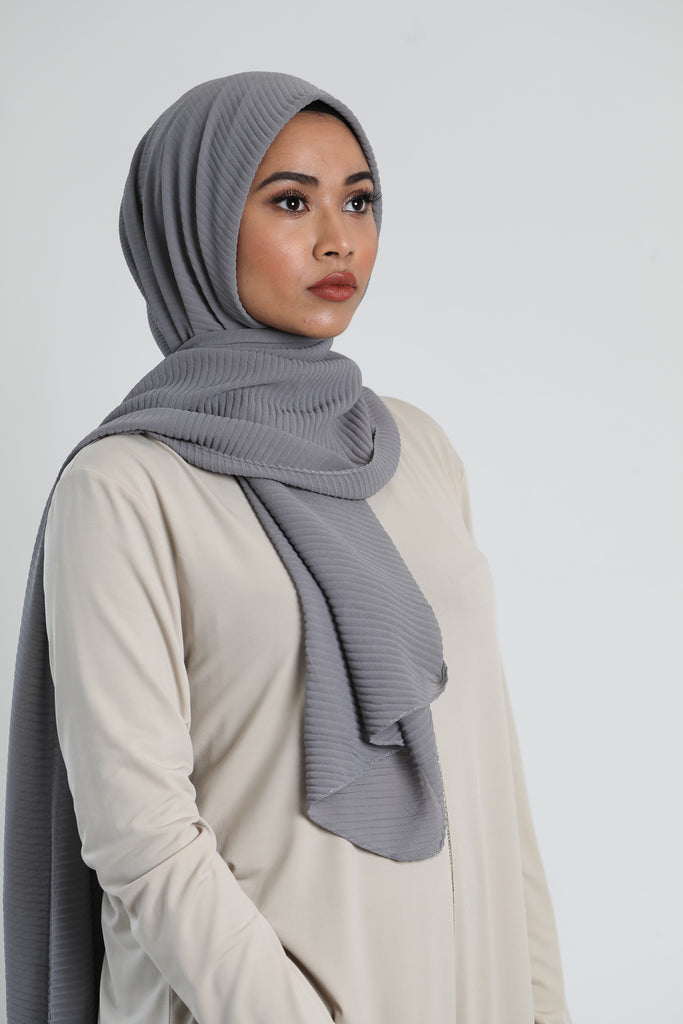 Crinkle Scarf | Light Grey - Haute Elan