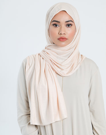 Light Blush Jersey Scarf - Haute Elan