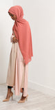 Peach Long line Jacket - Haute Elan