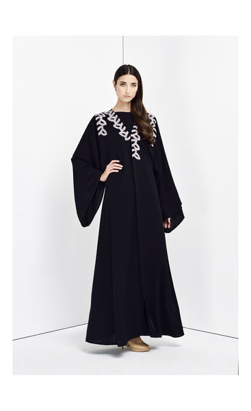 Black bell-sleeved dress - Haute Elan