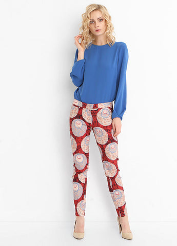 5306 - Mixed Print Slim Fit Trousers
