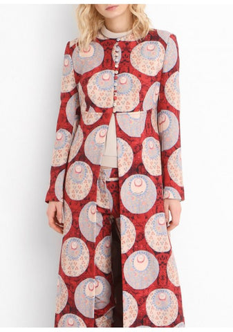 1320 - Red & Cream Printed Kaftan