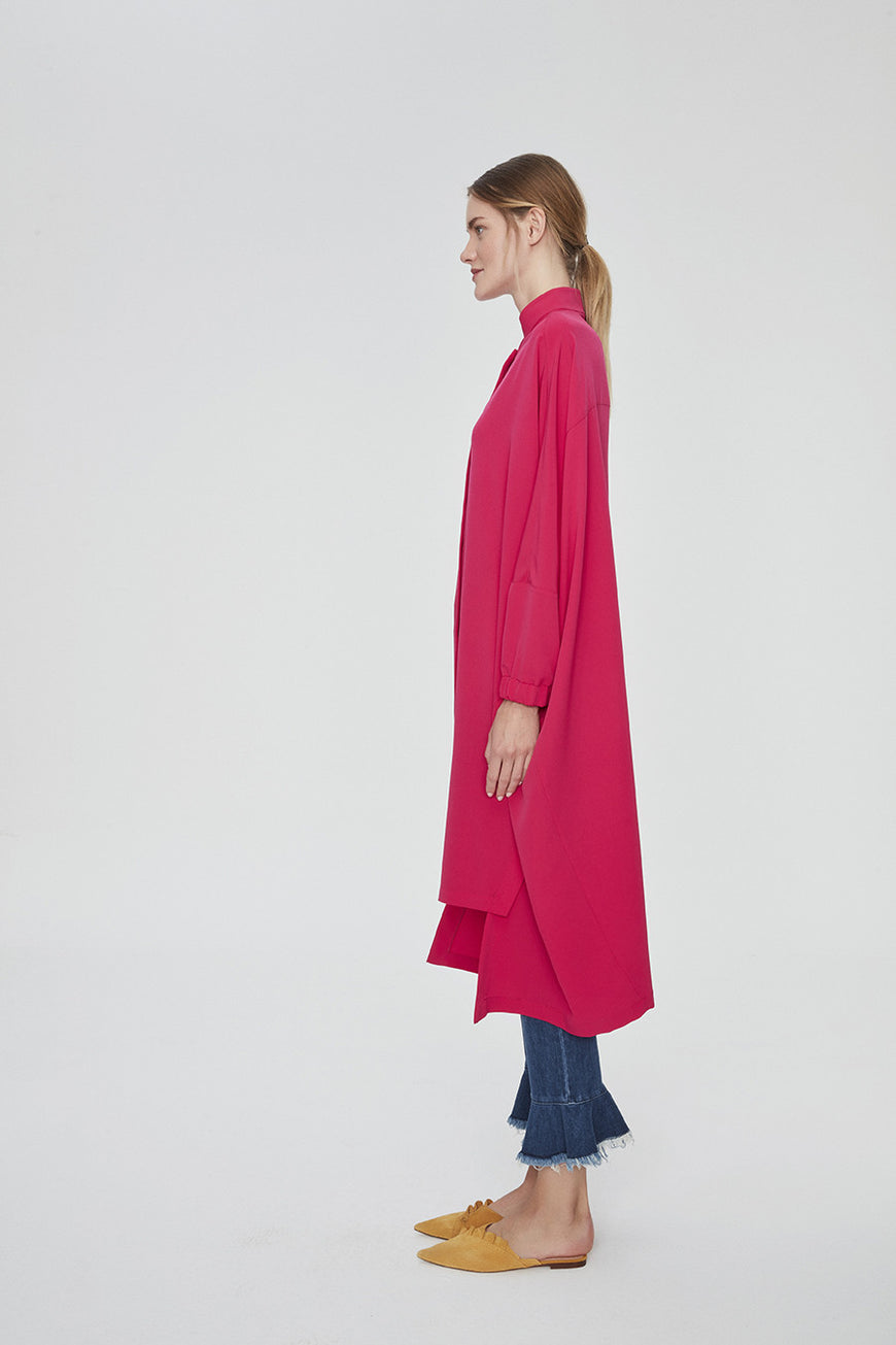 BRIGHT PINK OVERSIZED TUNIC DRESS (1)