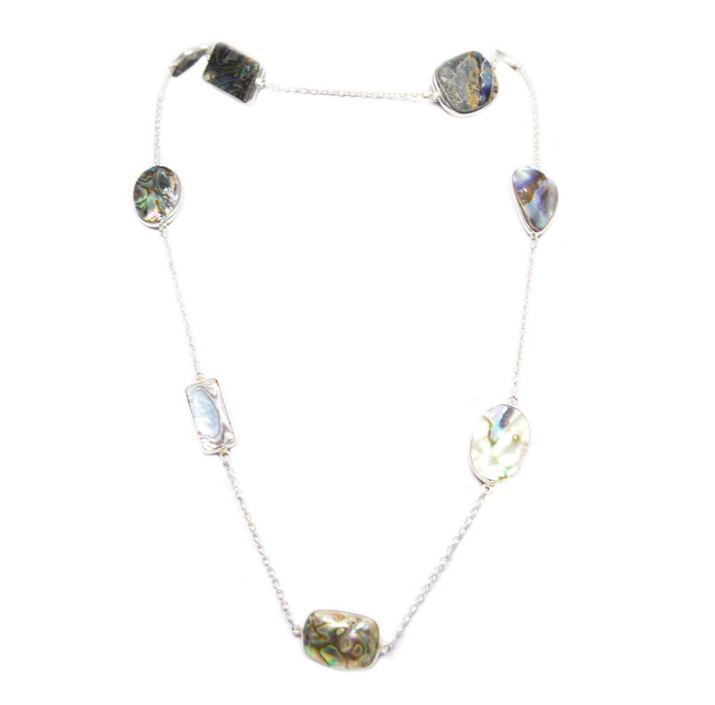 DRUZY NECKLACE RAINBOW BLUE