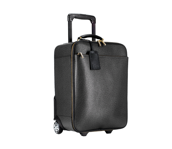 """Jet Set"" Leather Cabin Trolley - Haute Elan"