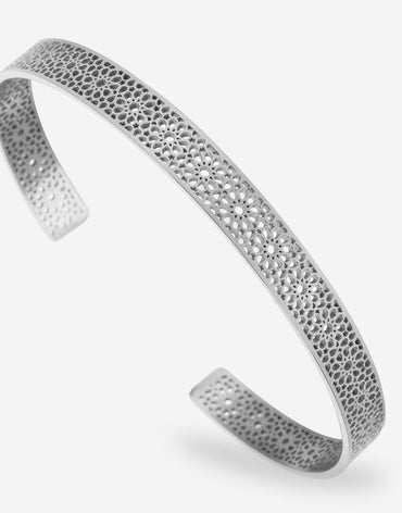Ajman Cuff - Stainless Steel - 180mm
