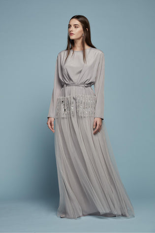 GREY MOROCCAN STYLE DRESS