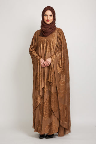 Golden Brown Cape Abaya
